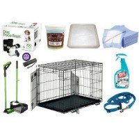 A selection of house training products and supplies