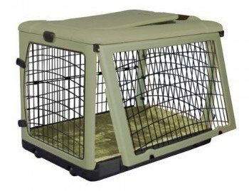 Pet gear other door steel crate on white bg