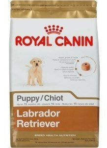 Bag of Royal Canin Labrador Retriever Puppy on white background