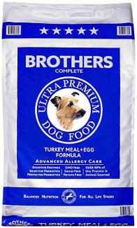 Pouch of Brothers complete turkey meal on white bg