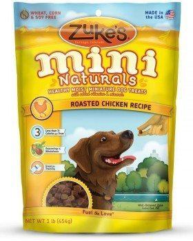Zuke's Mini Naturals dog treat pouch on white background