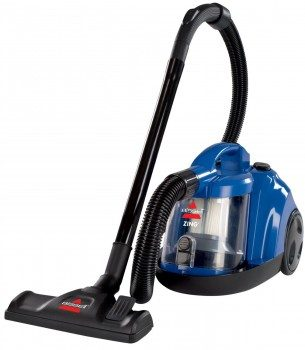 Front view of Bissell Zing Bagless vac on white bg