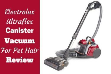 Electrolux ultraflex review written beside the vac on white background