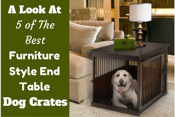 Best furniture style end table dog crates written beside a labrador inside such a crate