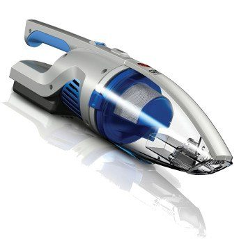 Angled view of Hoover Air Cordless handheld vacuum on white bg