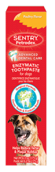 Sentry pet care toothpaste isolated on white