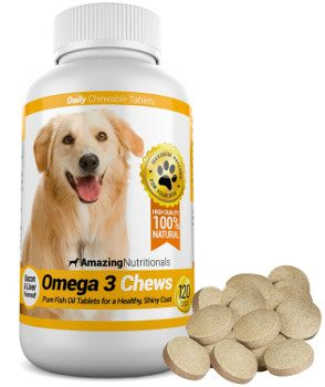 Amazing Nutritionals Omega 3 Chews isolated on white