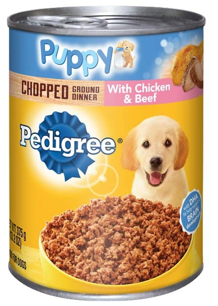 pedigree puppy chopped ground dinner image