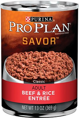 Purina Pro Plan Savor Adult Classic Beef & Rice Entree Canned Dog Food