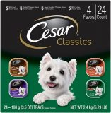 Cesar Classics Pate Poultry Multipack Dog Food Trays