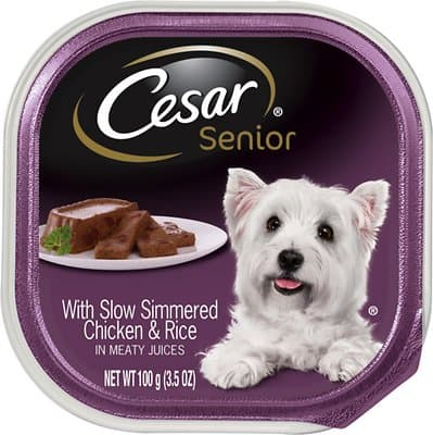Cesar Senior with Chicken & Rice Dog Food Trays