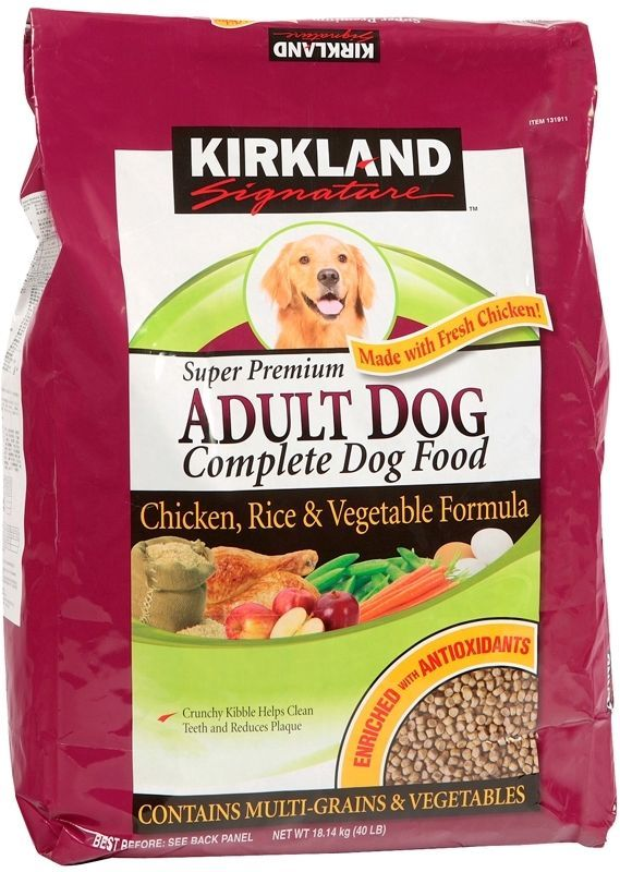 Kirkland Signature Adult Chicken, Rice and Vegetable Dog Food
