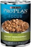 Purina Pro Plan Focus Adult Weight Management Turkey & Rice Entree Morsels in Gravy Canned Dog Food