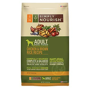 Simply Nourish Adult Dog Food – Natural, Chicken & Brown Rice
