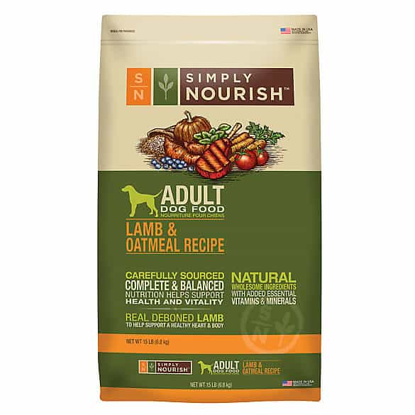 Simply Nourish Adult Dog Food – Natural, Lamb & Oatmeal
