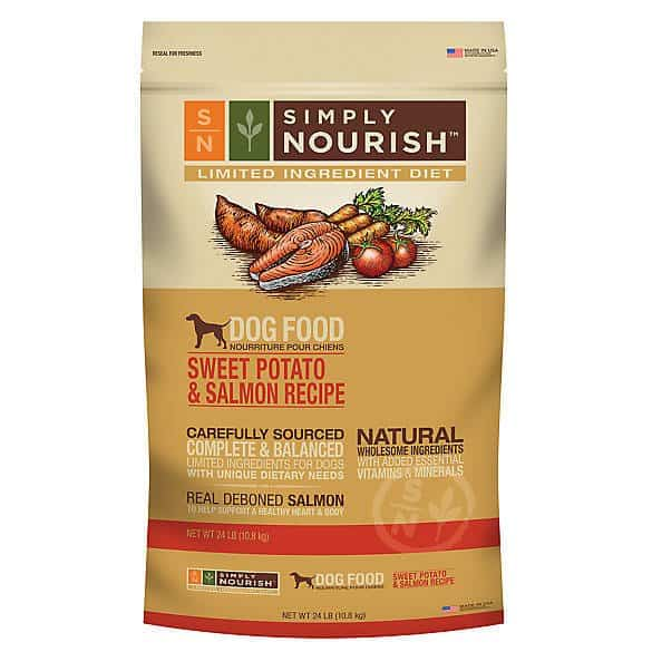 Simply Nourish Limited Ingredient Diet Adult Dog Food – Natural, Sweet Potato & Salmon