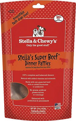 Stella & Chewy's Stella's Super Beef Dinner Patties Grain-Free Freeze-Dried Dog Food