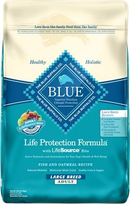Blue Buffalo Life Protection Formula Large Breed Adult Fish Oatmeal Recipe Dry Dog Food - The Best Dog Food For Great Danes. What Should You Really Be Feeding?