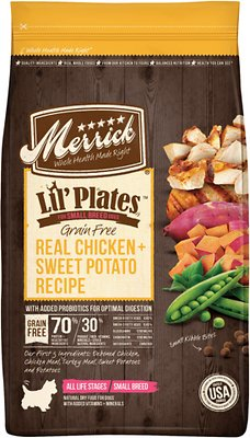 Merrick Lil' Plates Grain-Free Real Chicken + Sweet Potato Recipe Small Breed Dry Dog Food