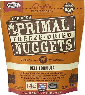 Primal Beef Formula Nuggets Grain-Free Freeze-Dried Dog Food