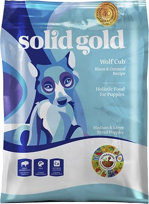Solid Gold Wolf Cub Bison & Oatmeal Puppy Formula