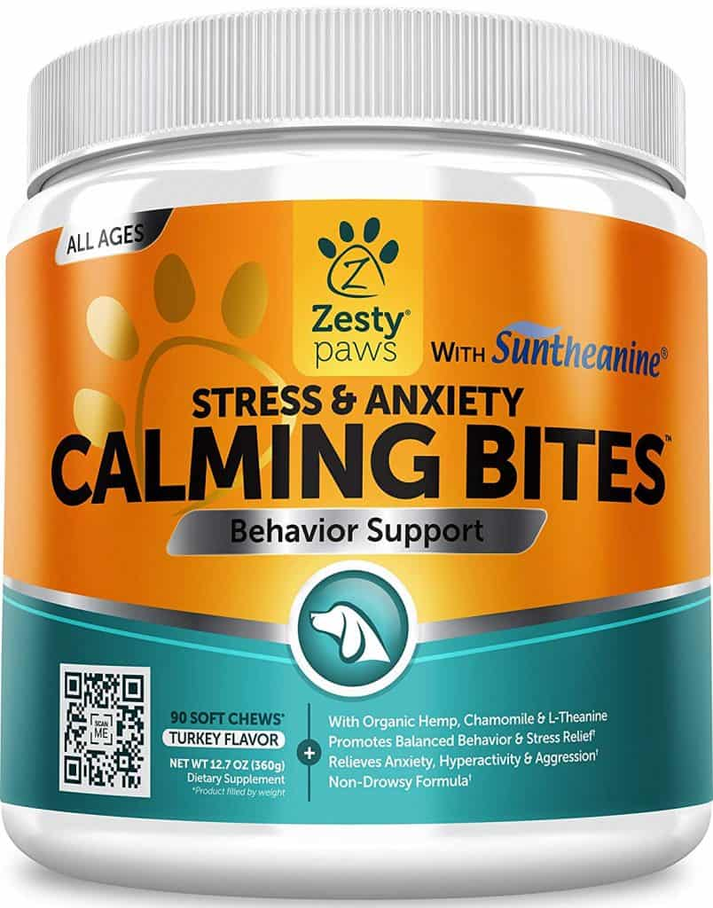 Zesty Paws Stress & Anxiety Calming Bites with Suntheanine