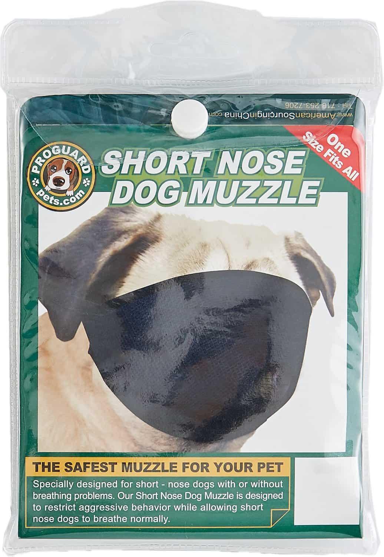 PROGUARD Pet Products Short Nose Dog Muzzle