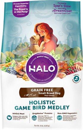 Halo Holistic Game Bird Medley Grain-Free Small Breed Dog Food