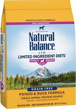 Natural Balance L.I.D. Potato & Duck Formula Small Breed Bites Grain-Free Dry Dog Food