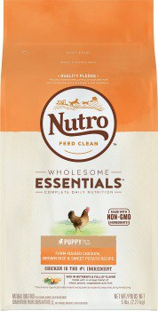 Nutro Wholesome Essentials Puppy Farm Raised Chicken, Brown Rice, & Sweet Potato Dry Dog Food