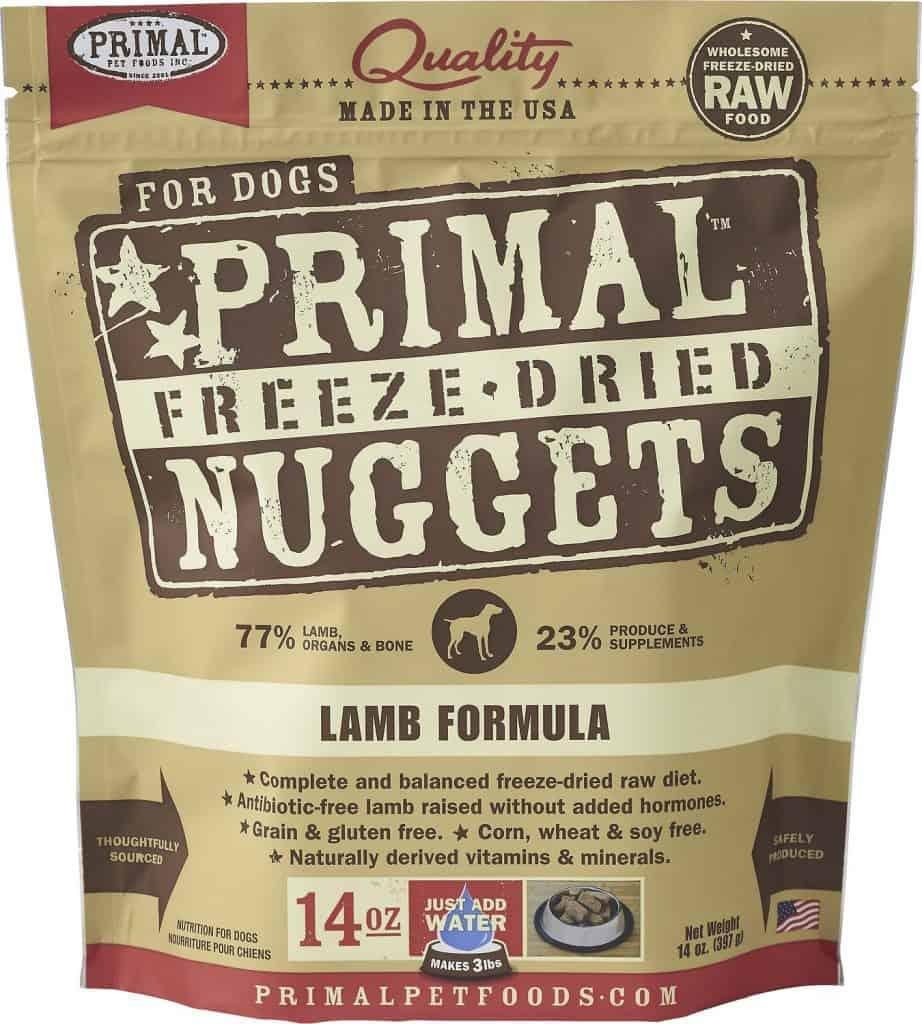 Primal Lamb Formula Nuggets Grain-Free Freeze-Dried Dog Food