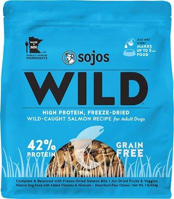 Sojos Wild-Caught Salmon Recipe Grain-Free Freeze-Dried Raw Dog Food