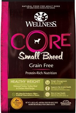 Wellness CORE Grain-Free Small Breed Healthy Weight Dry Dog Food