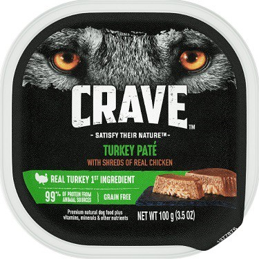 Crave Turkey Pate With Shreds Of Real Chicken Grain-Free Dog food Trays