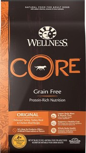 Wellness CORE Grain-Free Original Deboned Turkey, Turkey Meal & Chicken Meal Recipe Dry Dog Food