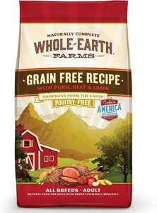 Whole Earth Farms Grain-Free Pork, Beef & Lamb Recipe Dry Dog Food
