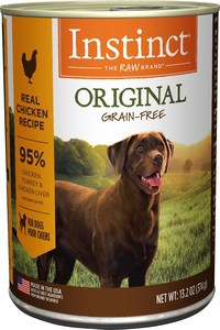 Instinct by Nature's Variety Original Grain-Free Real Chicken Recipe Natural Wet Canned Dog Dood