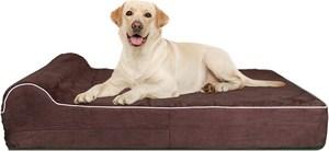 Kopeks Orthopedic Memory Foam With Pillow Dog Bed