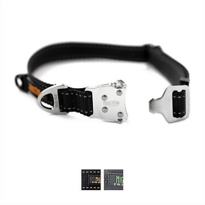 Mighty Paw All-Metal Hardware Reflective Dog Collar