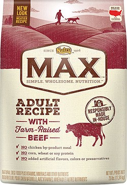 Nutro Max Adult Natural Beef Meal & Rice Recipe