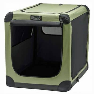 Soft fabric collapsible dog crate